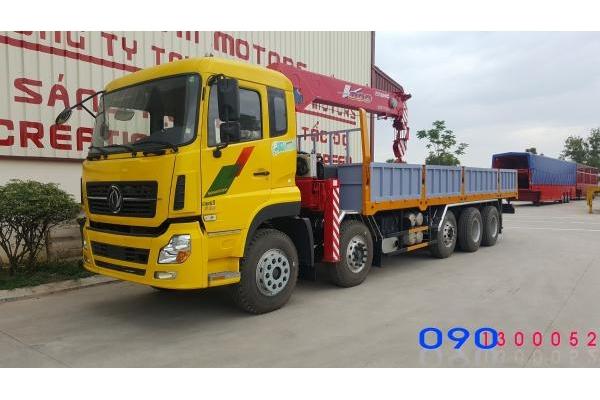 Xe tải Dongfeng 5 Chân gắn cẩu Unic URV800 8 Tấn