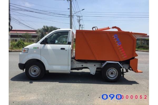 Xe ép rác mini Suzuzki Pro 750 kg
