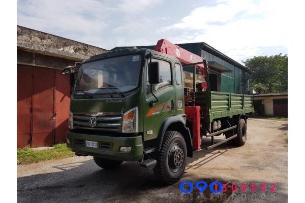 Xe tải dongfeng trường giang 8.7 tấn 2 cầu gắn cẩu Unic 5 tấn, hỗ trợ mua trả góp