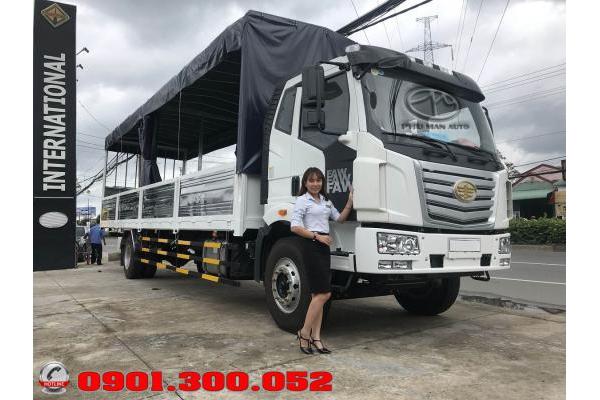 Giá xe tải Faw 7.25 tấn 2019 chở bia, nước ngọt - xe tải thùng siêu dài 9.8 mét