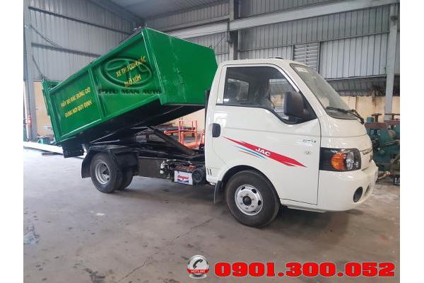 Xe chở rác mini Jac 1.5 tấn - xe ép rác nhỏ Hyundai jac X150 thùng 3.4 khối vào ngõ hẽm