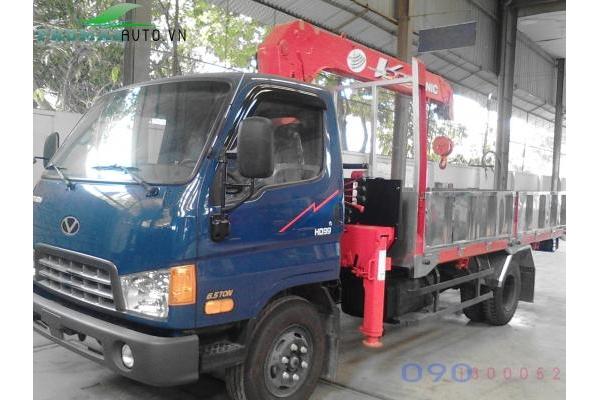 Xe tải Hyundai HD99 6,5 tấn gắn cẩu Unic 340 3 tấn 4 đốt