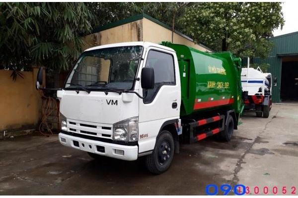 Bán xe cuốn ép rác Isuzu VM QHR650 6 khối - 6m3 giá rẻ, hỗ trợ mua trả góp