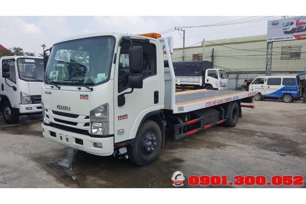 Đánh giá xe cứu hộ giao thông sàn trượt Isuzu NQR75LE4 5.5 tấn chở xe du lịch 16 chỗ