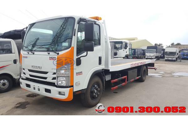 Xe sàn trượt chở xe Isuzu NQR75LE4 5.5 tấn