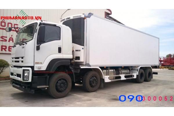 Xe tải Isuzu 4 chân FV330 17.9 tấn thùng đông lạnh