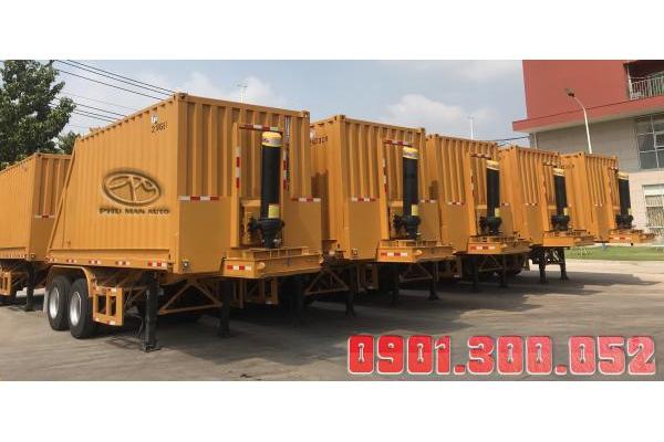 Bán trả góp Rơ Mooc ben thùng Container 20 Feet, 30 Feet 20 khối - 22 khối
