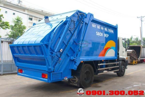Xe HinoFG8JJ7A cuốn ép rác 15khối Euro 4