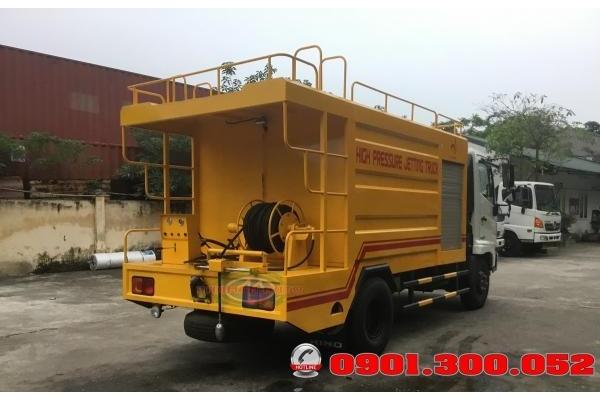 Xe thông cống, bơm nước áp lực cao Hino FC9JESW 5 khối