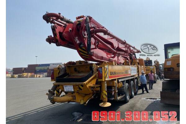 Xe Daewoo Bơm bê tông 60 mét cần JUNJIN nội địa
