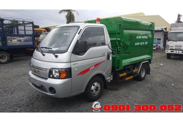 Giá xe chở rác 1.5 tấn Jac 3.4 khối - 3.5 khối, xe ben Jac 2019 chở rác 1t5 vào ngõ hẽm
