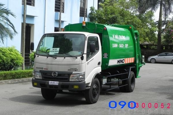 Xe Hino WU342L cuốn ép rác 6 khối(6m3)tải trọng 2.5 tấn
