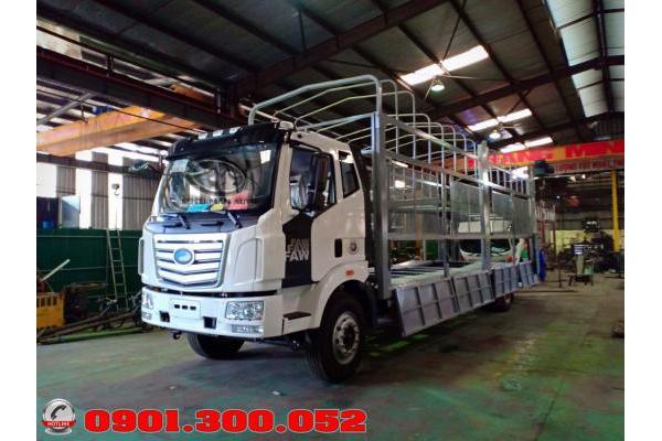 Xe lồng 2 tầng chở xe ô tô con - xe tải faw 6.1 tấn chở xe ô tô du lịch 2 tầng 2019