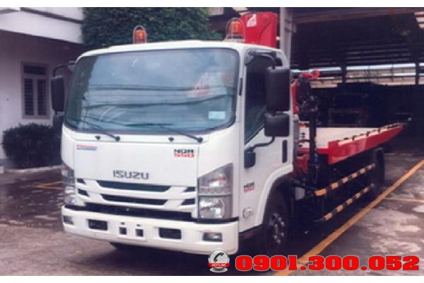 Bán trả góp xe cứu hộ giao thông 3 trong 1 Isuzu NQR75LE45.5 tấn: cẩu gấp - sàn trượt - càng kéo
