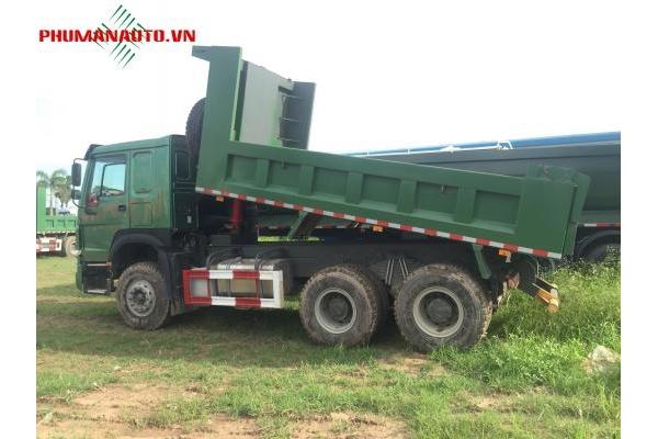 Xe tải ben 3 chân Howo 371HP 13 tấn