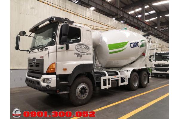 Xe Hino trộn bê tông bồn CIMC 12 khối 2019