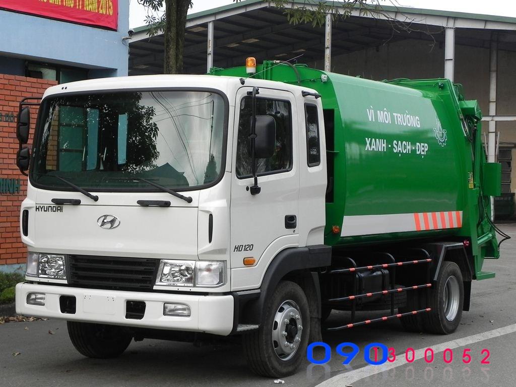 xe cuốn ép rác hyundai hd120 9 khối